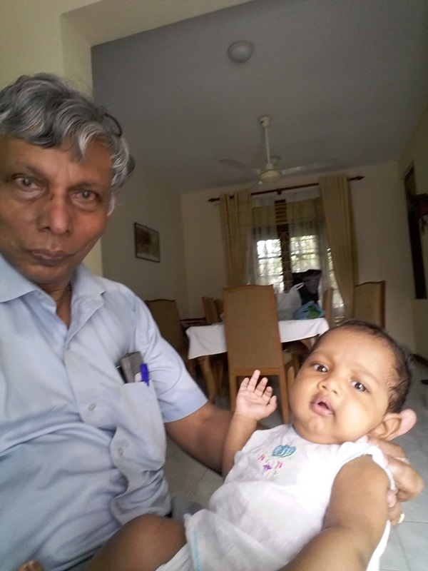 Rohan Seeya with 4 month old Avisha