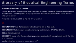 Glossary of Electrical Engineering terms