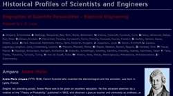 Historical Profiles of Scientific personnel in Electrical Engineering